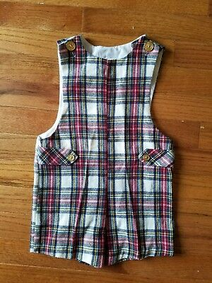 Vintage Boys Plaid Wool Jon Jon Shortall Size 4T