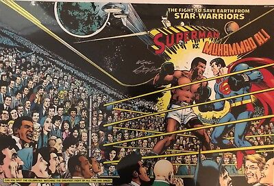 Neal Adams SIGNED Superman Vs. Muhammad Ali color print 13x19""