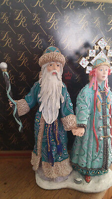 """Duncan Royale Santa- """"Grandfather Frost and Snow Maiden"""" Figures"""