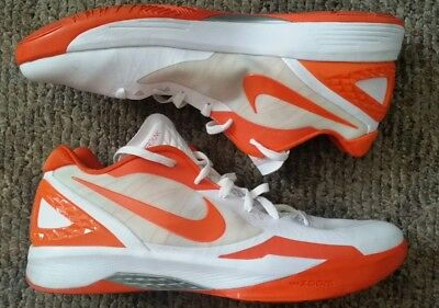 4b382925637b Men s Nike Zoom Hyperdunk Flywire Low Orange White Basketball 487638-116  Size 16