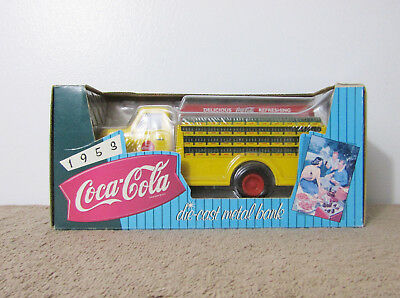 Ertl Coca Cola Coke 1953 Ford Yellow Die Cast Delivery Truck Bank Scale 1:25