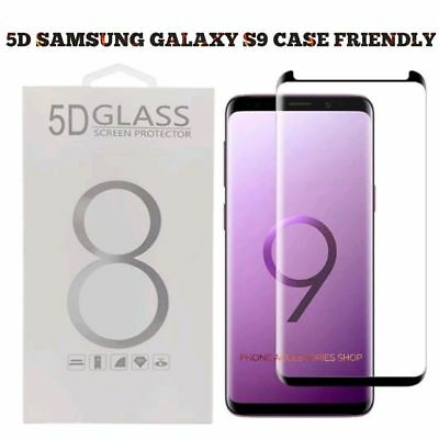Full Cover 5D Samsung S8 S9 Galaxy CURVED Edge Tempered Glass Screen Protector