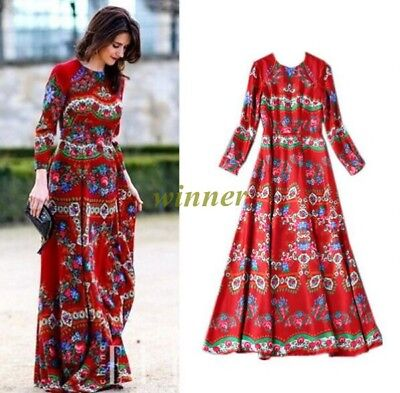 3a9f00773a592 RUNWAY DESIGNER OCCIDENT Women's Autumn Bohemia Ethnic Style Long Maxi  Dress ha