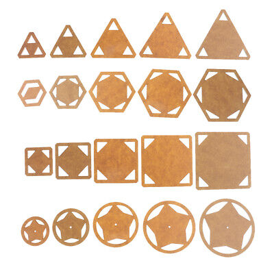 5pcs Assorted Acrylic Quilting Templates Patchwork Template Sewing Crafts