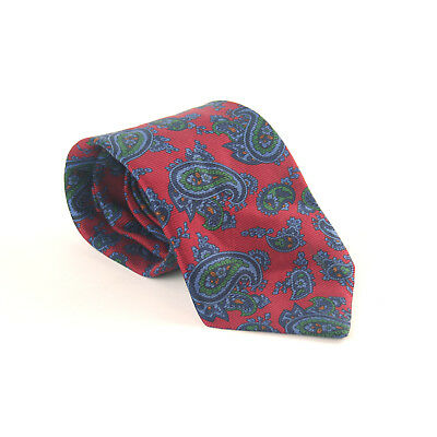 Cavenagh Of London 100% Silk Mens Blue Geometric Wide Fit Tie Ties, Bow Ties & Cravats Clothes, Shoes & Accessories