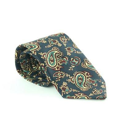 Cavenagh Of London 100% Silk Mens Blue Geometric Wide Fit Tie Clothes, Shoes & Accessories Ties, Bow Ties & Cravats
