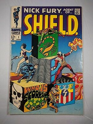 Nick Fury, Agent of SHIELD #1 (Jun 1968, Marvel) [VG+] Steranko Cover! Cool!
