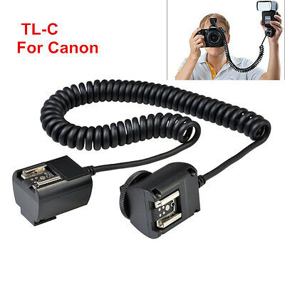 Godox TL-C 3M e-TTL Off-camera Hot Shoe Sync Cord Cable for Canon Camera Flash