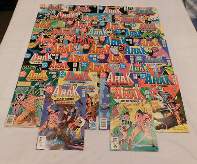 ARAK Son of Thunder #3-50 lot of 34 DC Comics 1981-1986 VG/Fine to VF condition