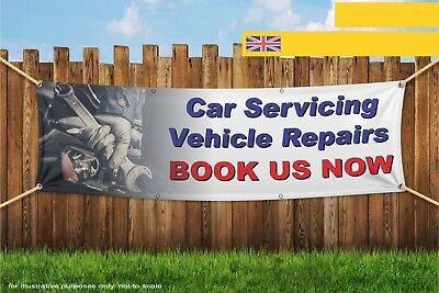 Car Servicing And Vehicle Repairs Heavy Duty PVC Banner Sign 3353