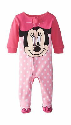 Disney Baby-Girls Minnie Mouse Face Polka Dot One Piece Blanket Sleeper Pink b0e5d3f22