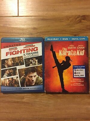 Fighting unrated Bluray and The Karate Kid Bluray Channing Tatum Jackie Chan