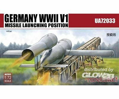Modelcollect UA72033 Germany WWII V1 Missile launching positi 2 in 1 in 1:72 NEU