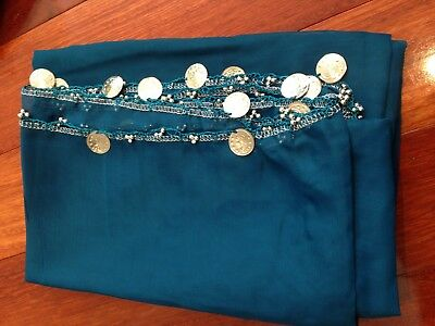 Belly dancing Veil, 2mx1m, coins around edge, Brand New, Limited Qty FREE POST