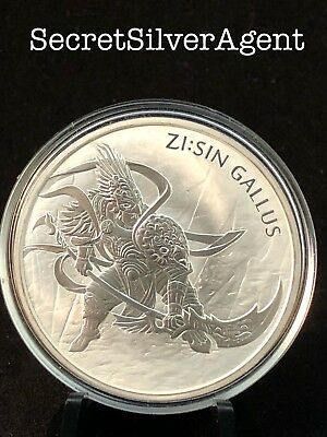 2017 1 oz South Korean Zi:Sin Gallus Silver Medal (BU) [ in air-tite capsule ]