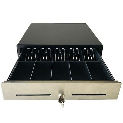 "16"" POS Cash Drawer Stainless Steel,Removable Tray,RJ11 Cable,BK1616B - Beelta"