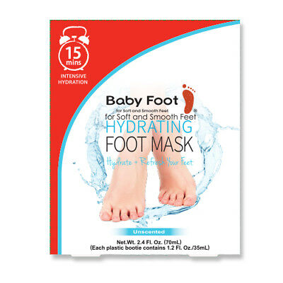 Hydrating Foot Mask Baby Foot Intensive Hydration Refresh Feet 15 Minute Formula