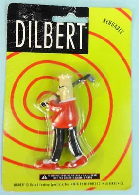 Cute DILBERT with Golf Club Bendable Figure
