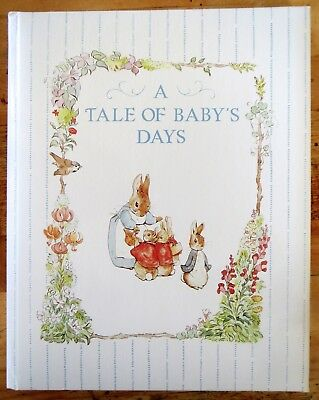"""Unused Vintage Baby Memory Book """"A Tale of Baby's Days"""" Beatrix Potter 1994"""