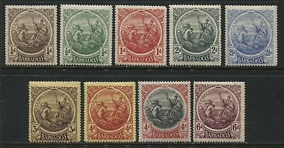 Barbados 1916-18 KGV 1/4d to 6d mint o.g.