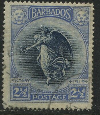 Barbados 1920 Victory issue 2 1/2d used