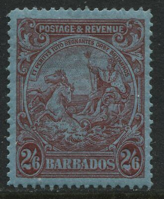 Barbados 1932 KGV 2/6d carmine on blue mint o.g.