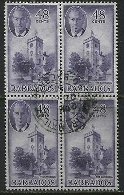Barbados KGVI 1950 48 cents in a block of 4 used