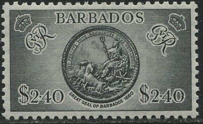 Barbados KGVI 1950 $2.40 the high value mint o.g.