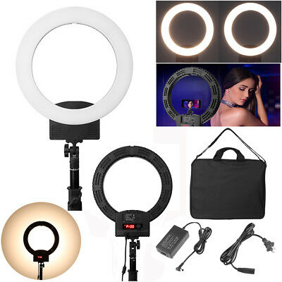 "Dimmable 12"" 36W 240pcs LED Camera Photo Studio Phone Video Ring Light Kit 5500K"