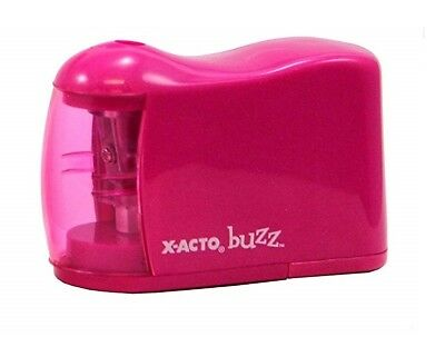 X-ACTO BUZZ By Elmer's Battery Powered Pencil Sharpener Xacto PINK