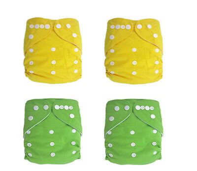 Plain Unisex colour reusable modern cloth nappy, baby to toddler Trial 4 Pack