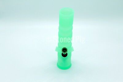 NEW Fold-A-Bong Foldable Portable Unbreakable Green Silicone Bong Water Pipe