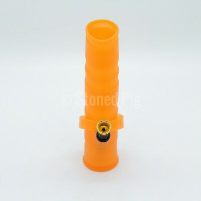 NEW Fold-A-Bong Foldable Portable Unbreakable Orange Silicone Bong Water Pipe