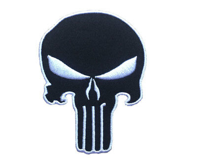 The Punisher Skull Embroidered Iron on Patches.