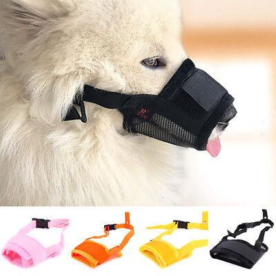 Pet Dog Puppy Mouth Mask Training Anti Stop Chew Bite Adjustable Tools Supplies