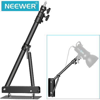 Neewer Triangle Wall Mounting Boom Arm for Photography Studio Video Black