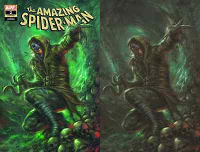 AMAZING SPIDERMAN 2 v5 2018 LUCIO PARRILLO COMICXPOSURE VIRGIN VARIANT 2 PACK NM