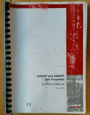 Case/ih 2500Sp 3000Sp Self Propelled Sprayer Operators Manual