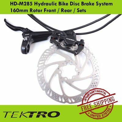 Tektro HD-M285 Bike Hydraulic Disc Brake System 160mm Rotor (Front/ Rear/ Sets)