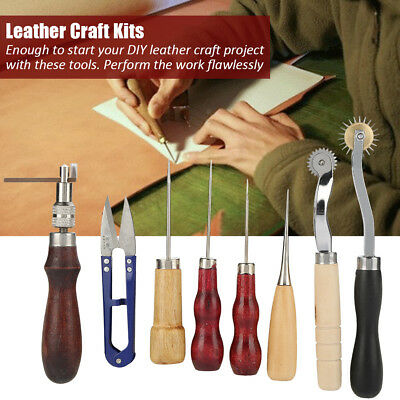 14tlg Leder Werkzeug Leather Craft Handwerk Sewing Stitching Groover Tool Set