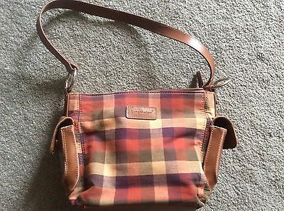 Longaberger Homestead Plaid Purse with Front Wallet Compartment