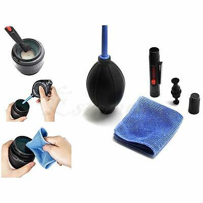 3 in 1 Lens Cleaning Kit Pen Cleaner Set Brush Blower Cloth For DSLR Camera AT