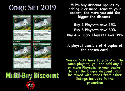 MTG Core Set 2019 M19 Choose your Uncommon Playset (x 4 cards) Buy 2 save 10%
