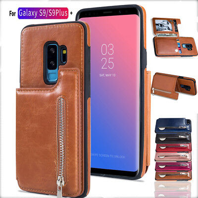 Wallet Case for Samsung S9 S8 Case Luxury Leather Silicone Flip Card Slots Cover