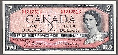 1954 Bank of Canada - $2.00 Note - EF- Beattie Rasminsky - E/R 1313516
