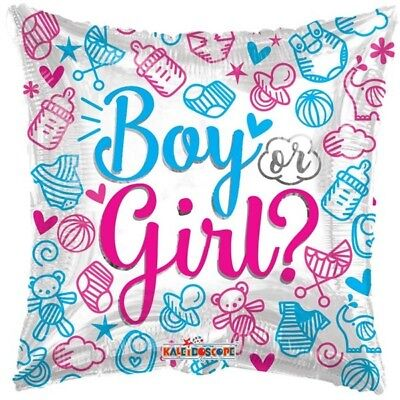 "18"" Boy Or Girl Foil Balloon Helium Gender Reveal Party Decoration 2 Sided Decor"