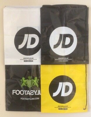 Jd Sports Footasylum Duffle Bag Gym Sports Plastic Drawstring Bag *New*