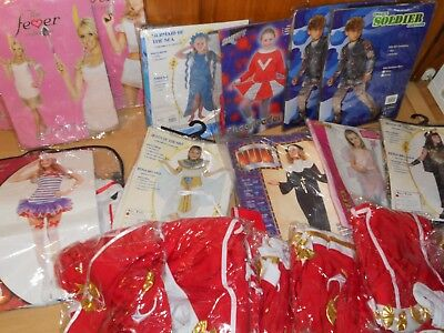 JOB LOT. Fancy Dress Outfits 19 costumes womens and kids new, smiffy