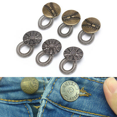 6x Waist Extender Pants Stretch Button Instant Fix Metal Elastic Expander HGUK