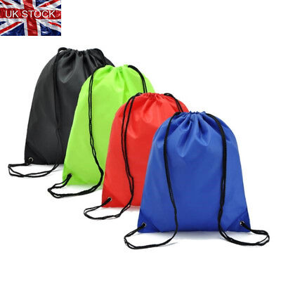 Unisex Strong Drawstring Gym Bag Sports hiking cycling Bicycle backpack UK Sale